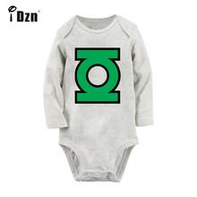 Желтый фонарь Sinestro корпус Hal Jordan мужчины в черном MIB серый новорожденный Детский боди костюм малыш Onsies комбинезон хлопковая одежда(China)