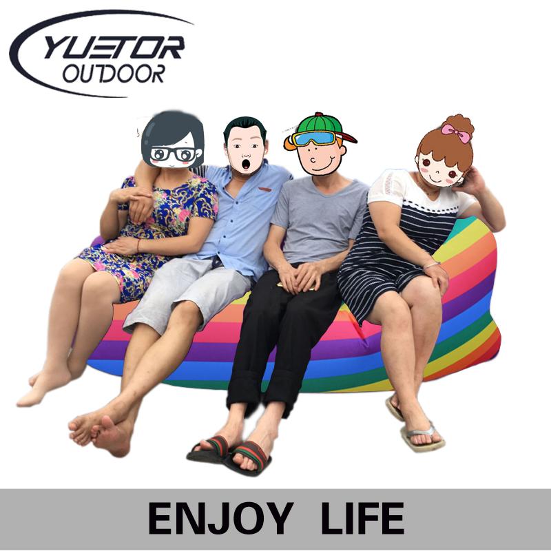 Yuetor Drop ship Beach lay bag Hangout sleep Air Bed Lounger laybag Outdoor fast folding sleeping inflatable air sofa lazy bag(China (Mainland))
