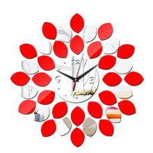 Moderní nástěnné hodiny se zrcadlovým efektem – celkem 36 částí
