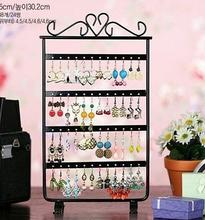 Buy Brief 48 earring rack stud earring jewelry holder display rack accessories plaid pavans display rack storage pendant stand frame for $9.41 in AliExpress store