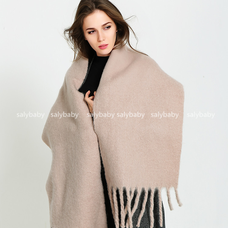 2016 Winter Pure Cashmere Scarf Fringed Shawl Scarves Warm Dual-purpose Lengthened And Thickened