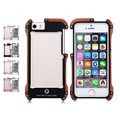 Recommend Newest 4 colors R Just Iron Wood Metal Frame Phone Case For iPhone5 5S SE
