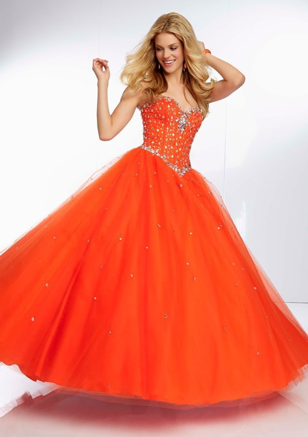 Neon Colored Evening Dresses - Short Hair Fashions
