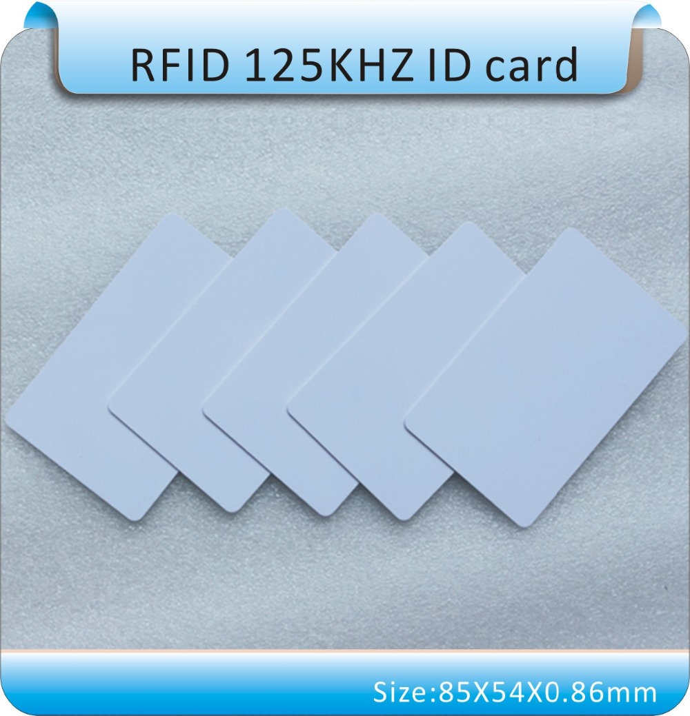 Free shipping 100pcs 125KHZ working frequency RIFD card EM4305 ID card, for erasable or copy.(China (Mainland))