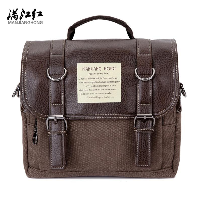 NEW 2016 Messenger Bags Canvas Vintage Crossbody Satchel Shoulder Men's School Book Bag Casual-bag(China (Mainland))