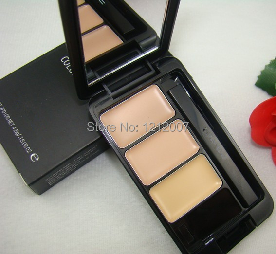 Hot Professional Brand MC Makeup eye Concealer palette 3 Colors concealer eye brand makeup urban brand face care make up(China (Mainland))