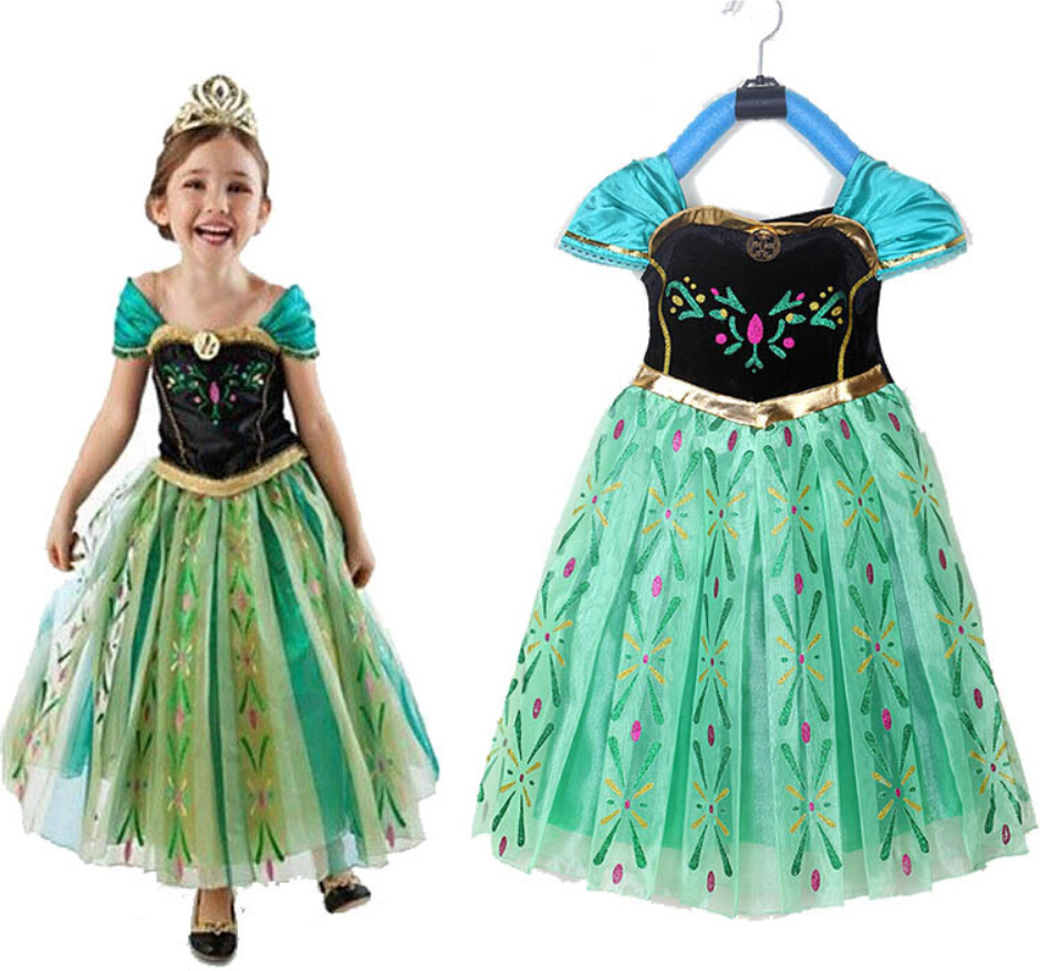 The princess dress of new fund of 2014 autumn winters Europe and the United States children(China (Mainland))