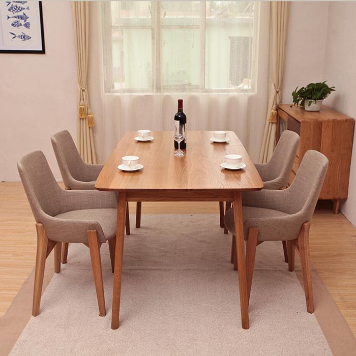Office School White Oak Dining Table Fork Legs Full Of Oak Wood Table For Fou