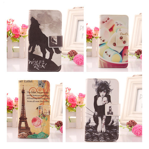 A variety of styles Painting Patterns Case For Flying 5i H2000+ Cell Phone Cover Book Style Flip PU Leather Wallet Bag(China (Mainland))