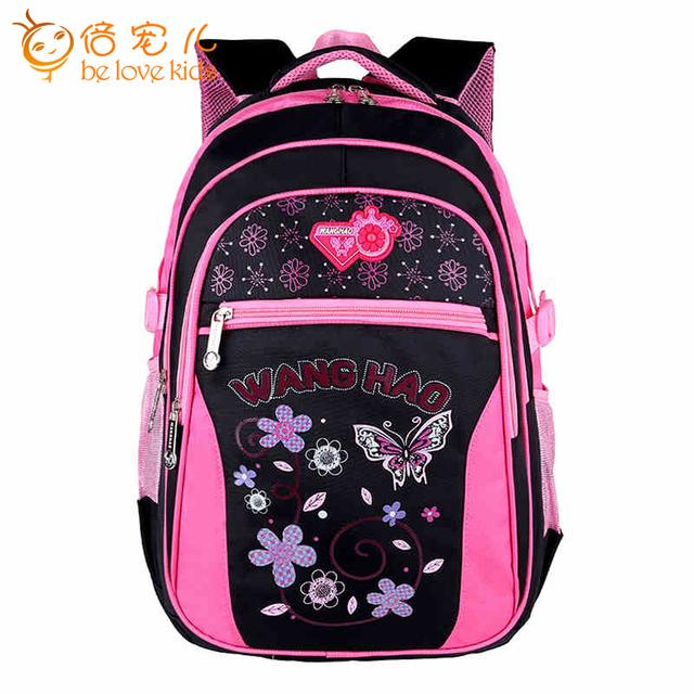 Мода дети ранцы 2016 новинка маленький ребенок рюкзак бабочка печать школьные рюкзаки ...