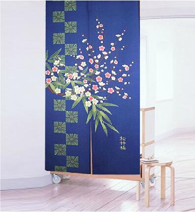 Noren Door Curtain Plum Blossom Fabric Doorway Curtain 150CM x 85CM(China (Mainland))
