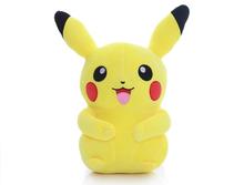 Super cute 1pc 40cm cartoon POKEMON Pocket Monsters happy Pikachu plush doll creative stuffed toy children Valentine's Day gift