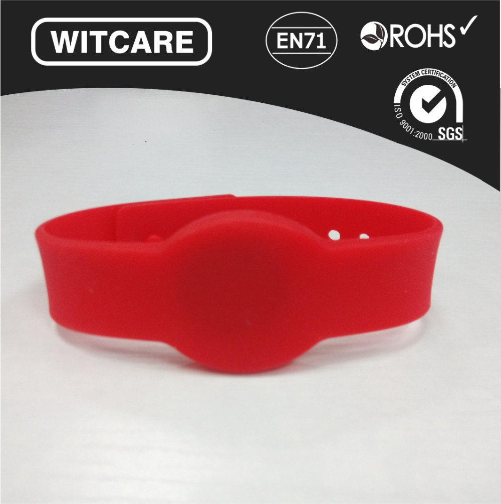 6pcs/Lot Silicon NFC Wristbands for ALL NFC phone, like Galaxy S3/S4/Note2/Note3 * Free Shipping * Red<br><br>Aliexpress