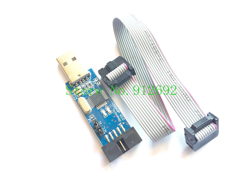 5SET/LOT LC-01 New USBASP USBISP AVR Programmer USB ISP USB ASP ATMEGA8 ATMEGA128 Support Win7 64K(China (Mainland))