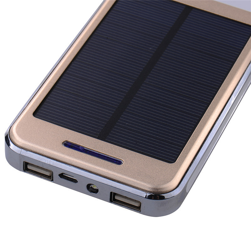 Hot 12000mAh Solar Charger Waterproof External Battery Dual USB Power Bank for iPhone 5s 6s 7 plus for Samsung S7 for All Phone