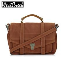 Satchel messenger bag vintage suede designer handbags high quality briefcase postman bag lady big retro crossbody bags for women(China (Mainland))