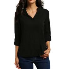 9 colors 2016 Trendy S-5XL Plus Size Women Blouses Ladies Office Shirts Long Sleeve Summer Top Women Clothing