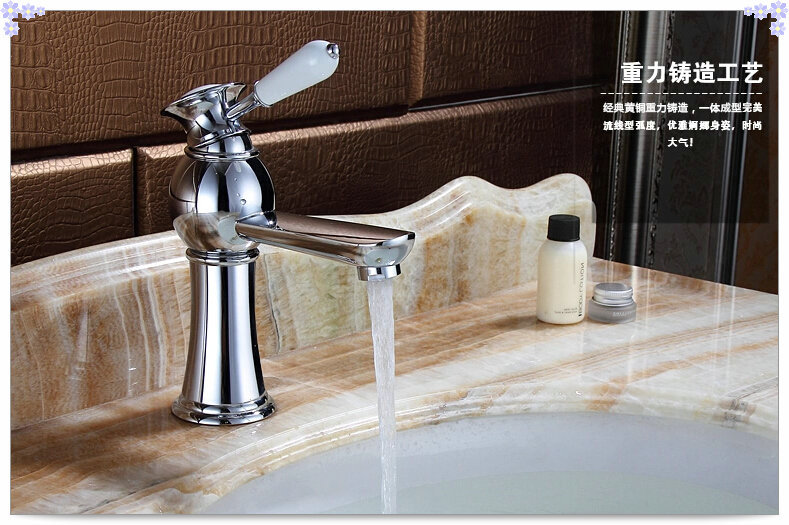 Tall Contemporary Chrome Bathroom Vessel Sink Faucet: Free Shipping Mixer Tap Single Arch Faucet Bathroom