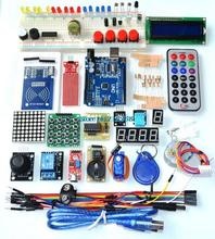 UNO R3 KIT Upgraded version of the Starter Kit the RFID learn Suite LCD 1602 for arduino kit(China (Mainland))