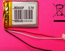 Buy 3.7V 900mAh 603443 Li-Polymer Li-Po Rechargeable li ion Battery Mp3 MP4 MP5 GPS PSP mobile electronic part for $5.69 in AliExpress store