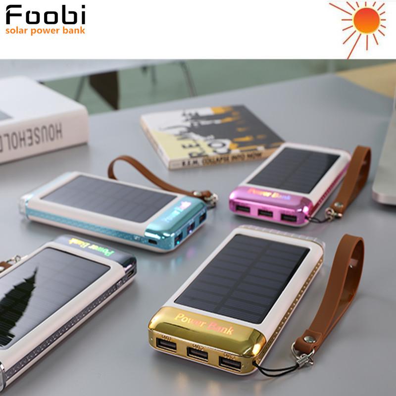 Solar Power Bank 10000mAh/20000MAH Universal 3USB Portable Cargador Solar Panel Charger External Laptop Battery for iPhone PC(China (Mainland))