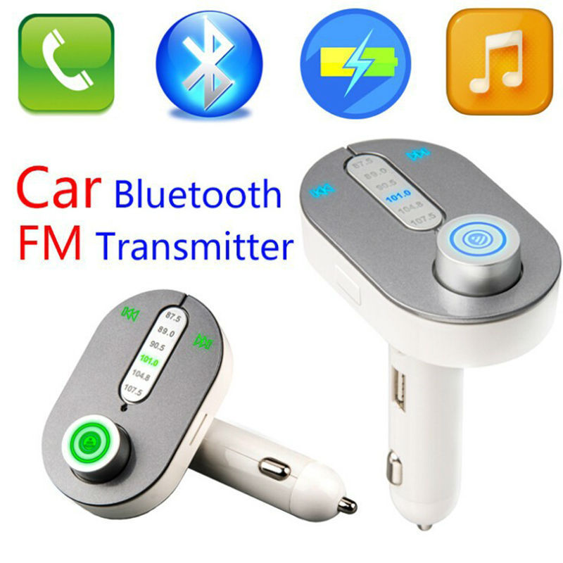 Car Kit MP3 Player Wireless FM Radio Handsfree Bluetooth Transmitter Car Charger With USB TF Plug Car MP3(China (Mainland))