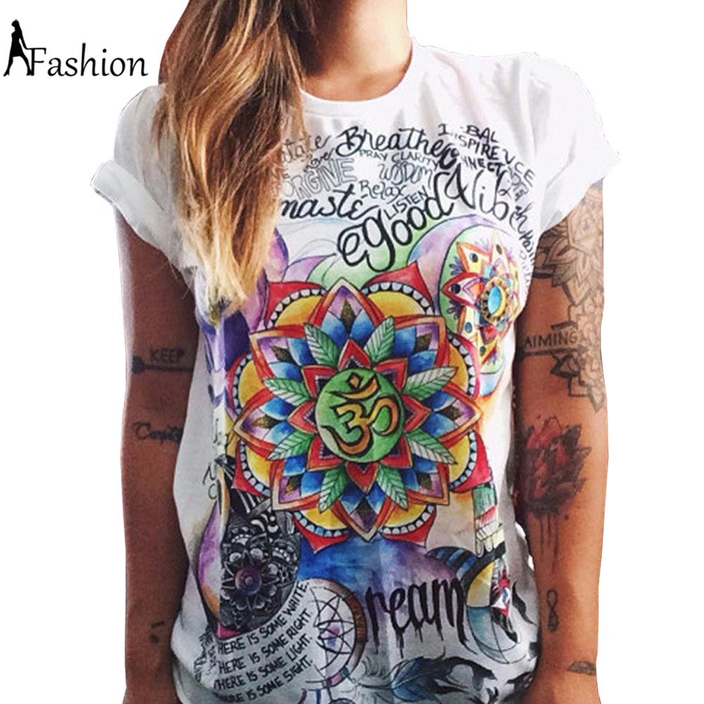 S-XXL fashion summer 2016 t shirt women wonder print punk rock t-shirt girls tops couple clothes plus size camisetas mujer(China (Mainland))