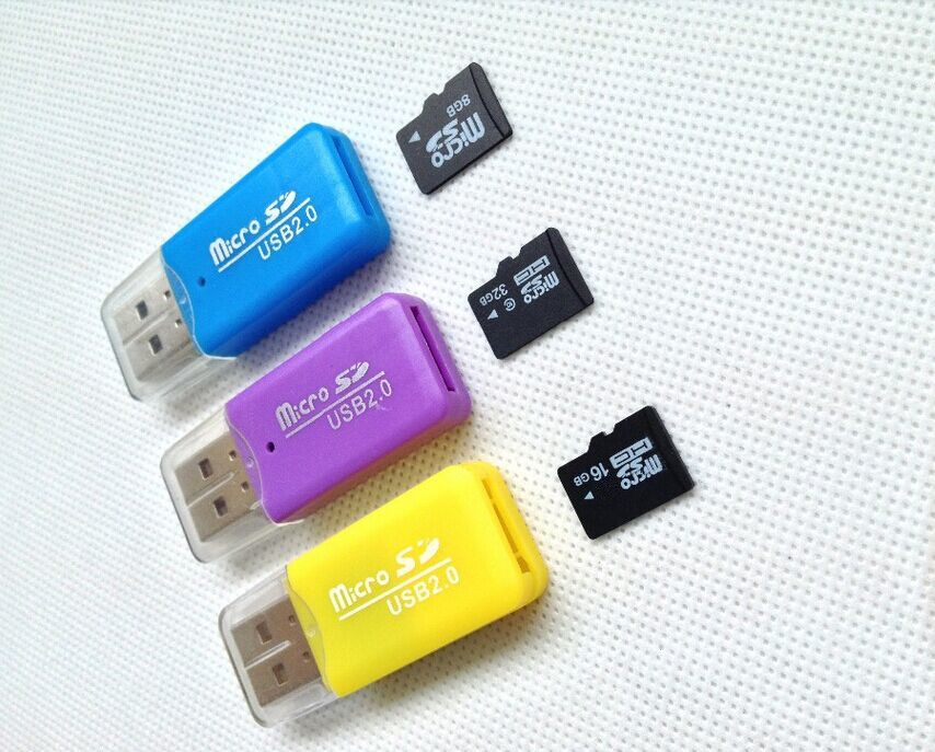 New arrival TF card one card reader+ memory card +card adapter 128mb 1gb 2gb 4gb 8gb 16gb 32gb 64gb128gb T2(China (Mainland))