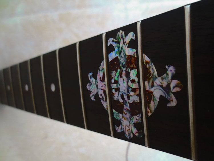 Guitar fretboard inlay stickers the wreath inlay stickers - Stickers muraux imitation pierre ...