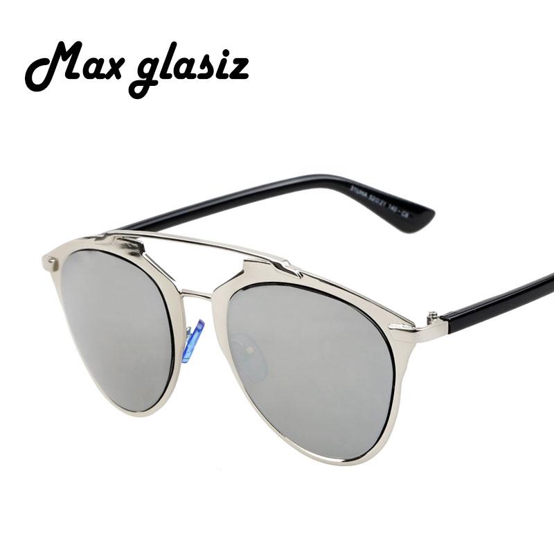 Vintage Metal Frame Glasses : 2016 Reflected Vintage Metal frame Sunglasses Women Brand ...