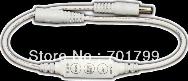 R102-D;Mini 3-Key Single Color LED dimmer,DC12V input,12A/144W output;with DC connector;plug and play