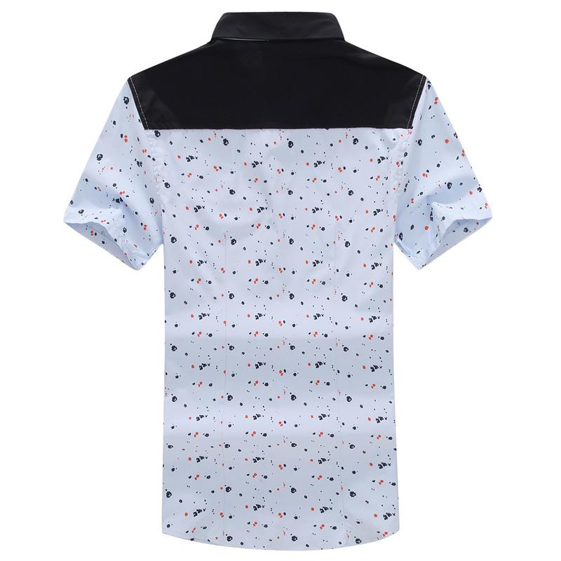 2015 Summer Brand News Hot Sale Fashion Print Snap Button Design Man Plus Size Casual Shirt