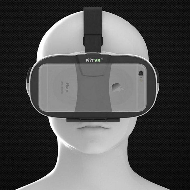 ถูก FIIT VR 2N G Oogleกระดาษแข็งรุ่นความจริงเสมือนแว่นตา3D HD VRแว่นตาvrกล่อง+สีขาวไร้สายบลูทูธระยะไกลควบคุม