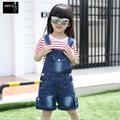 New 2016 Hot Sale Kids Overalls Spring Autumn Denim Jumpsuit Kids Children Cotton Loose Blue Jeans