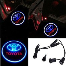 2 Pcs Universal Car Projection LED Projector Door Shadow Light Welcome Light Laser Emblem Logo For Toyota(China (Mainland))