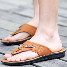 Men s slippers summer sandals Korean version of the trend of male non slip sandals and