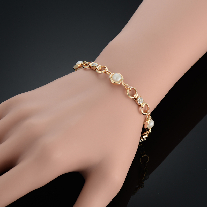 Brand New Trendy 18k Real Gold Plated Cute Chain Charm Bracelet For Women Girls Fashion Bracelets Bangles Jewelry Wholesale(China (Mainland))
