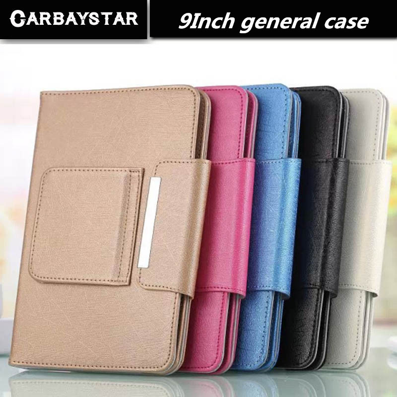 CARBAYSTAR Hot Selling Super Deal Universal High quality PU Leather Stand Cover Case For 9 Inch Tablet PC general cover 5 Color(China (Mainland))