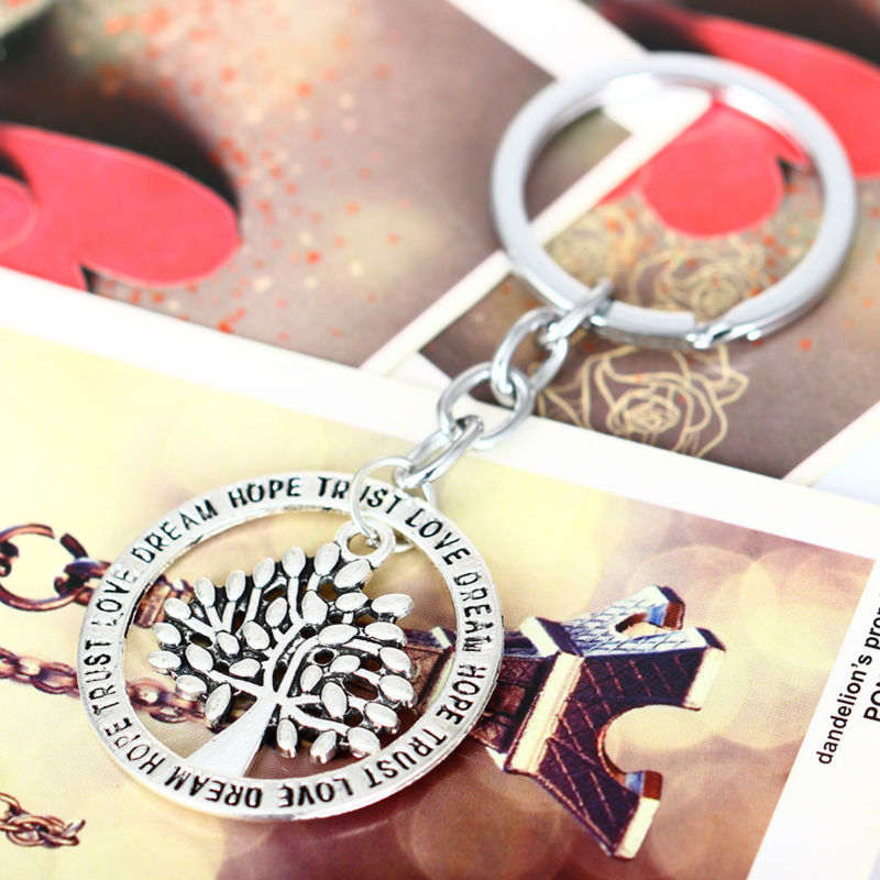 Wedding Gifts For Best Friend Female : Dream Hope Life Tree Keyring Best Gifts For Friend Women Men Wedding ...