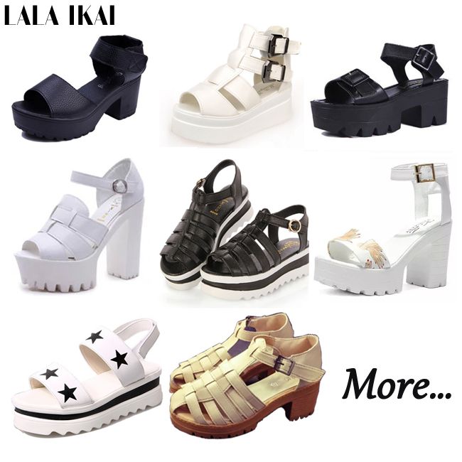 2015 Women Platform Sandals Open Toe Gladiator Sandals Women 16 Colors Casual Summer Shoes Woman Thick High Heel Wedge Sandals(China (Mainland))