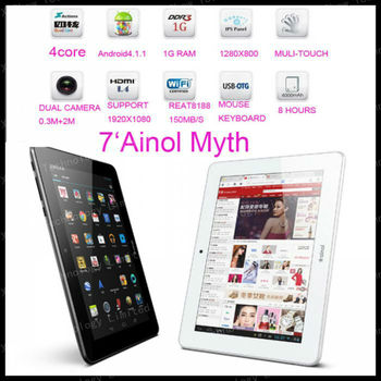 "freeshipping Ainol Novo 7 MYTH ainol venus  Android 4.1.1   7"" Capacitive 1GB RAM 16GB HDD quad CORE +IPS SCREEN+dual camer"