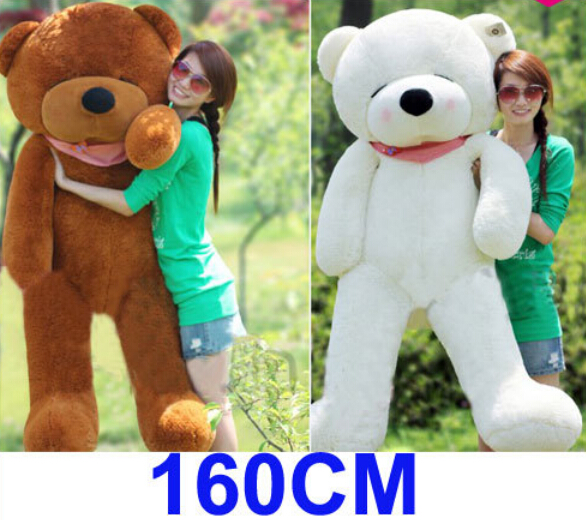 4 Color 1.6M Giant Size Plush Sleepy Teddy Bear Toy Doll Bear Gift New Arrived Sleepy Teddy Bear Plush Toy Factory Supply(China (Mainland))