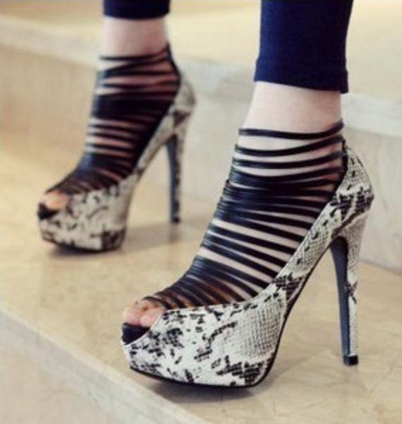 Hot Size 35-39 New Sexy Ladies High Heels Fashion Women Pumps Platform Ankle-Wrap Stilettos 3Colors Open Toe Dress Shoes sandals - LALALA shops store
