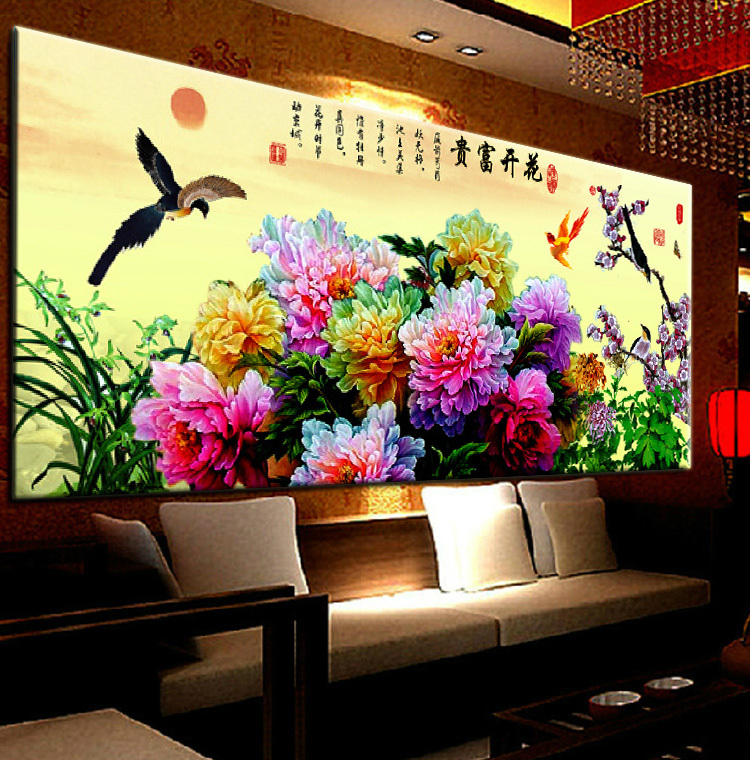Гаджет  US shore 3D stitch newest living room Blossoming sharp precision printing stitch painted landscapes series None Изготовление под заказ