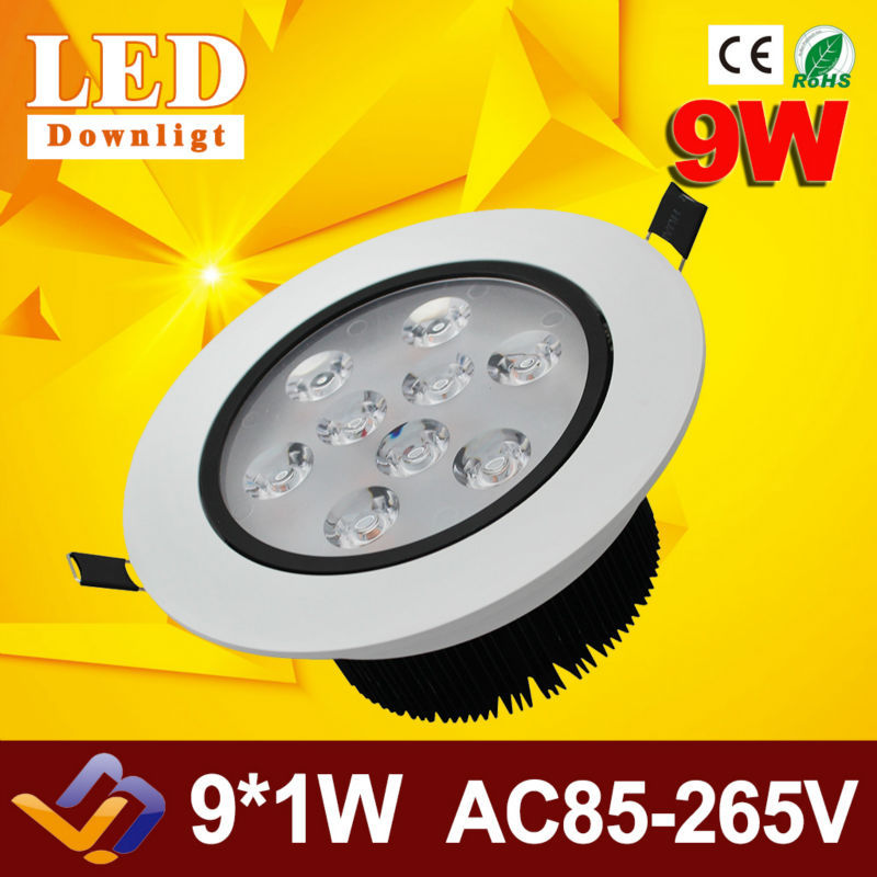Free shipping New Dimmable Recessed led Adjustable downlight 9W 12W 15W 18W dimming LED Spot light led ceiling lamp AC85-265V<br><br>Aliexpress