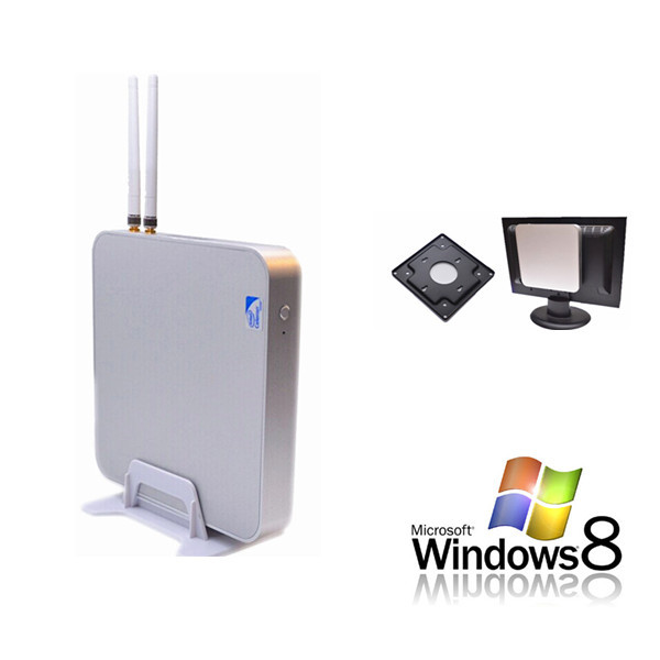 Fanless mini computer Qotom-i37P with 4G ddr3 ram C1037U dual core 1.8GHz no noise usb 3.0 support windows OS/linux cheap pc(China (Mainland))