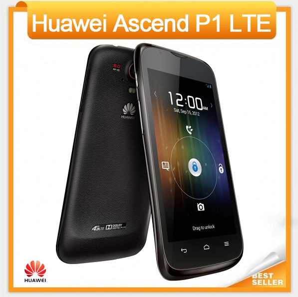 Huawei Ascend P1 LTE 4G U9202 Mobile Phone Android 4.0 Dual Core 8MP Camera 1+4GB Multi-Language Support Free Shipping(China (Mainland))