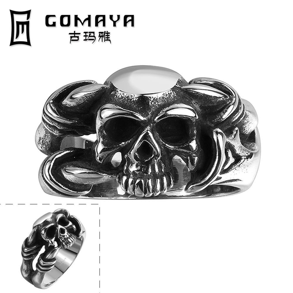 2016 Fashion Cool Personality Game Ancient Skull Jewelry Stainless Punk Ring Python Cubic Zirconina Cosplay Rings(China (Mainland))