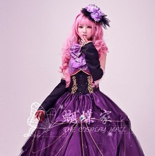 Vocaloid luka miku Costumes cosplay princess dress for women sexy gothic dress Kawaii dress wig cosplay High Quality