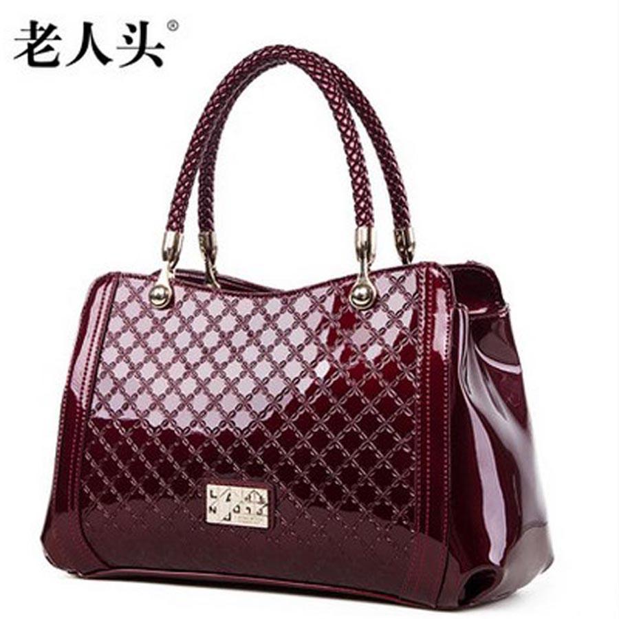 laorentou 2016 women bag japanned leather bag fashion trend single shoulder bag embossed cowhide women handbag<br><br>Aliexpress